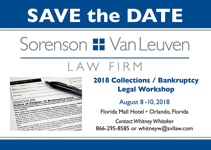 2018 Collections / Bankruptcy Legal Workshop
