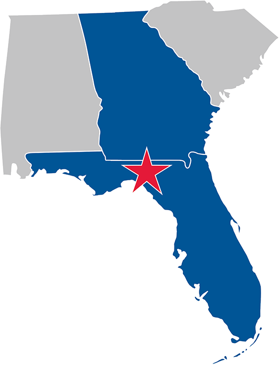 Florida and Georgia Map